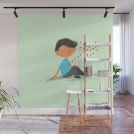 Boy in Love Wall Mural