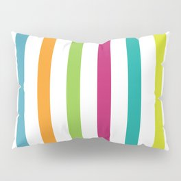Vertical Rainbow Stripes Pillow Sham