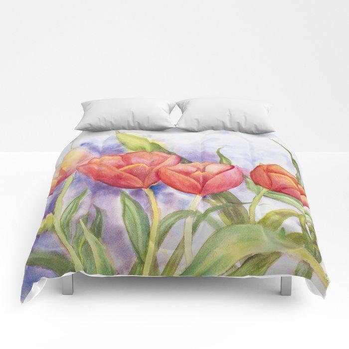 Diane L - Les tulipes Comforters