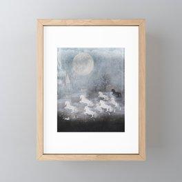 phantom horses Framed Mini Art Print