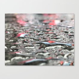 Droplets In Times Square No.2 Canvas Print