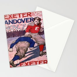 Vintage poster - Exeter vs. Andover College Football Stationery Cards