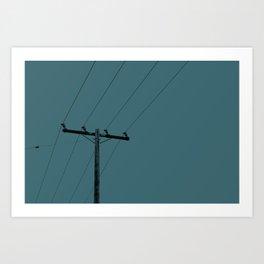 Phone Lines Art Print