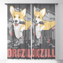 CORGZILLA Sheer Curtain