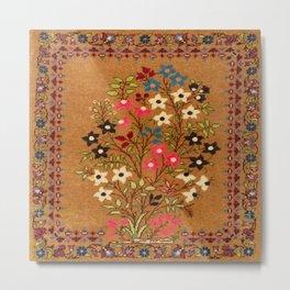 Kashan Vintage Central Persian Mat Print Metal Print