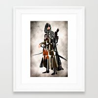 aragorn Framed Art Prints featuring Aragorn Inspired Minimalist LOTR Poster by A Deniz Akerman