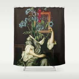 Florales Portrait Disaster Shower Curtain