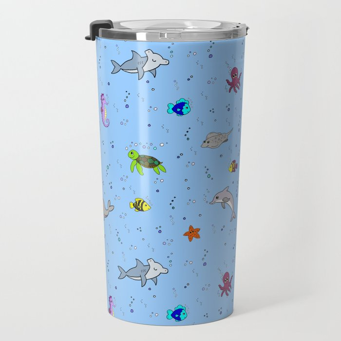 Sea creature pattern Travel Mug