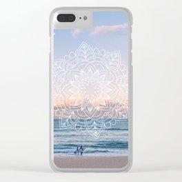 Twilight surf mandala Clear iPhone Case