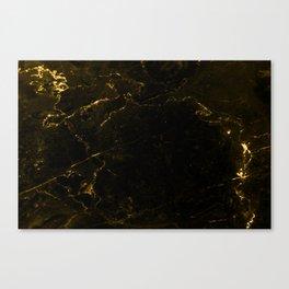 Black Gold Marble Canvas Print