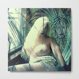 SEXY ART NUDE BLOND LADYKASHMIR Metal Print