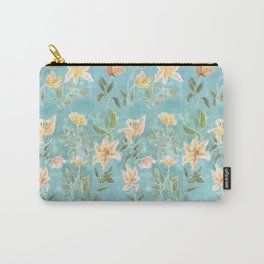 Mint Botanical Pattern Carry-All Pouch