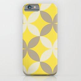 Ultimate Gray and Illuminating Geometric Pattern iPhone Case
