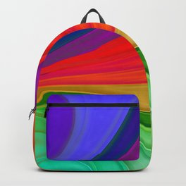 Abstract Rainbow Background Backpack