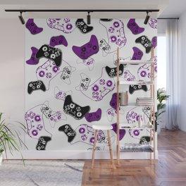 Video Game White & Purple Wall Mural