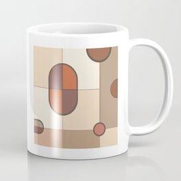 Abstract Art Shapes I Browns Rusts Creams Coffee Mug