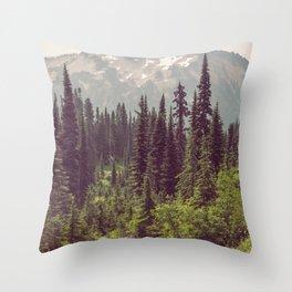 Faraway - Wilderness Nature Photography Throw Pillow