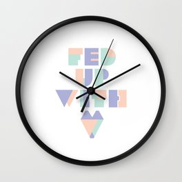 Fed Up With Love Wall Clock