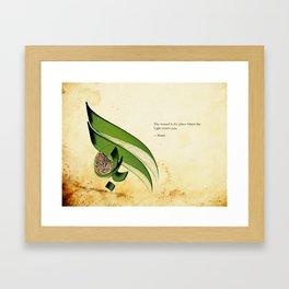 Arabic Calligraphy - Rumi - Light Framed Art Print