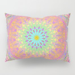 Rainbow Mandala Pillow Sham