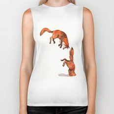 Jumping Red Fox Biker Tank