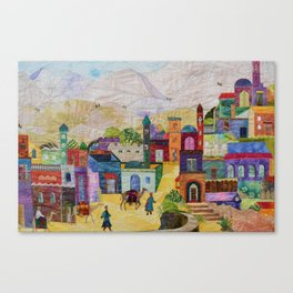 Silk Road Stop Canvas Print