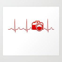 CAMERA HEARTBEAT Art Print