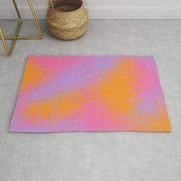 Yellow Pink and Purple Design Rug