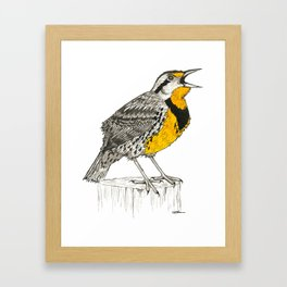 Eastern Meadowlark Framed Art Print