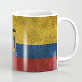 Old and Worn Distressed Vintage Flag of Ecuador Coffee Mug