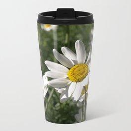 SUN WORSHIPPING DAISY FLOWERS Metal Travel Mug