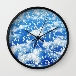 Blue Birds by Lika Ramati Wall Clock