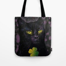 Lucky Black Cat Tote Bag