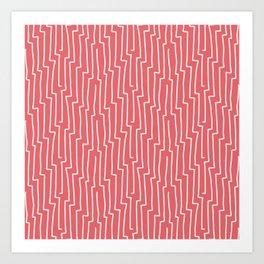 Lovely hand drawn vintage stripes illustration pattern Art Print