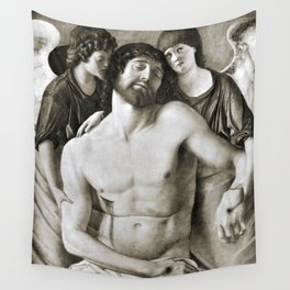 Dead Christ Between Two Angels by Giovanni Bellini Wall Tapestry