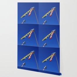 Flying Wind Socks and Blue Sky Wallpaper