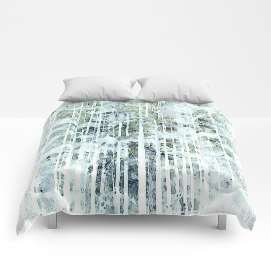 Painterly Woodlands Abstract Comforters