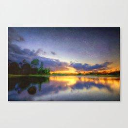 Lakeside Textures Canvas Print