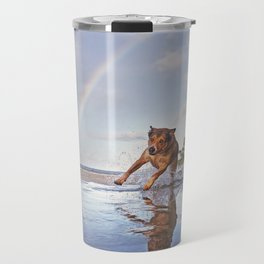 My First Day Out Of The Quarantine. Travel Mug