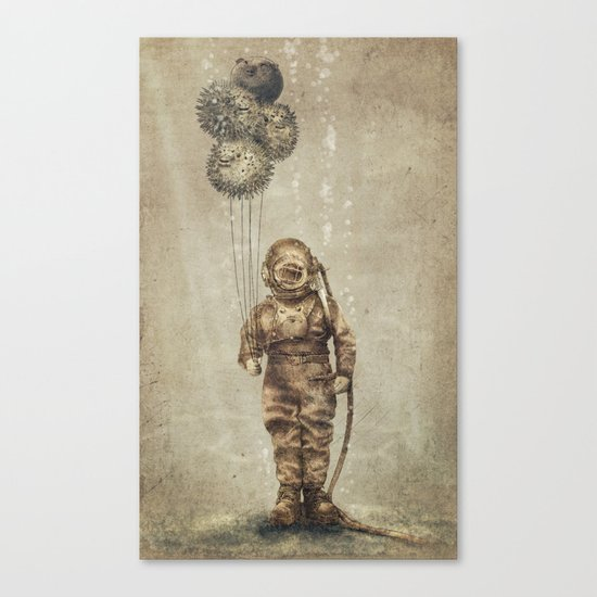Balloon Fish (Sepia) Canvas Print