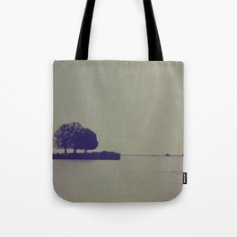 The trees at the end of the pier Tote Bag