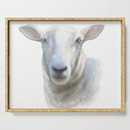 Watercolor Sheep Serving Tray
