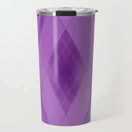 Wicker triangular strokes of intersecting sharp lines with amethyst triangles and stripes. Travel Mug