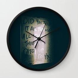 Bad Blood Wall Clock