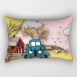 Blue truck and friends Rectangular Pillow