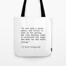 F. Scott Fitzgerald quote 6 Tote Bag