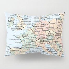World Map Europe Pillow Sham