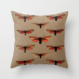 In This Direction (Brown Background) Throw Pillow