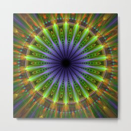 Mandala of happiness, fractal abstract Metal Print