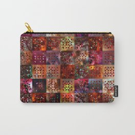 Warm Colors Galaxy Quilt Pattern Carry-All Pouch